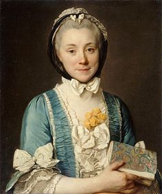 Portrait Madame Lenoir, 1764, Joseph Duplessis Siffred (Paris, Musée du Louvre). The lady represented is the mother of Alexandre Lenoir, founder of the Museum of French Monuments.