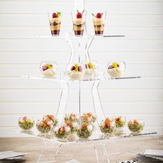We're going to let you in on a little secret 🤫 these Eiffel Tower displays are the perfect way to take your dessert game to new heights! Dessert Games, Dessert Presentation, Food And Beverage Industry, Dining Services, Dessert Stand, Great Restaurants, Chocolate Truffles, Mini Cupcakes, Clear Acrylic