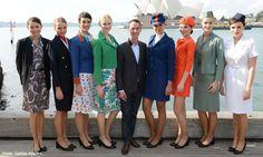 Qantas uniforms through its history.