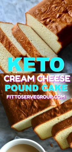 Keto Cream Cheese Pound Cake -Stop missing cake while doing keto with this easy, delicious recipe for low carb pound cake. This keto pound cake is one you can customise easily and will make often. Low Carb Desserts, Low Carb Recipes, Dessert Recipes, Diet Recipes, Slimfast Recipes, Bread Recipes, Easy Recipes, Low Calorie Cake, Vegetarian Recipes