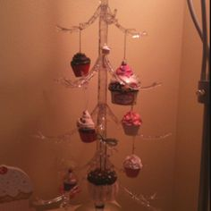 Acrylic display tree for my daughter's cupcake themed room.
