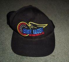 Men's Black DAYTONA BEACH BIKE WEEK USA Embroidered Hat, Adjustable Strap, GUC #SouthernSportswearInc #BaseballCap