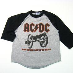 Early 80's AC/DC Base Ball T-Shirt
