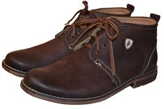 Max Brown Leather Cukka Boot for Winter