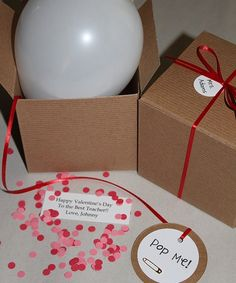 Personalizado Pop el globo, día de San Valentín, regalo de profesor, mensaje secreto