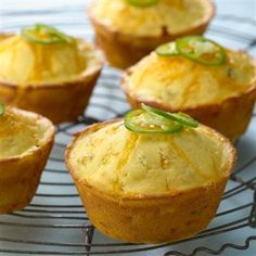 Jalapeño Cheddar Cheese Corn Muffins #gogourmet