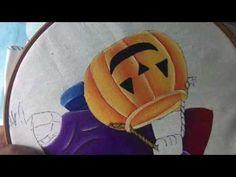 Pintura En Tela Brujito # 3 Con Cony
