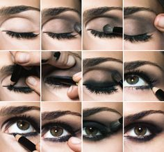 "Step by step images on ""How to Complete a Smokey Eye"". For best results use our Individual Eyes Eyeshadow, HD Liquid Liner and our Waterproof Eyeliner Pencil. This design by @NYC New York Color is great for nights out with friends on weekends. Every college girl needs some quality time with their friends."