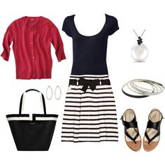 Black and white summer outfit - change out the shoes and bag and I can take it to work