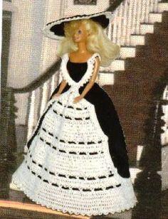Häkeln Sie Mode Puppe Barbie Pattern - #390 TEA GOWN aus New York