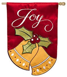 Joyful Christmas Bells Regular Applique Flag * Details can be found by clicking on the image.