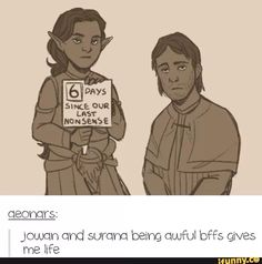 YES YES YES! Jowan and Surana bromance for the freaking WIN!