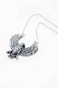 Icon Brand Eagle Eye Necklace in Silver