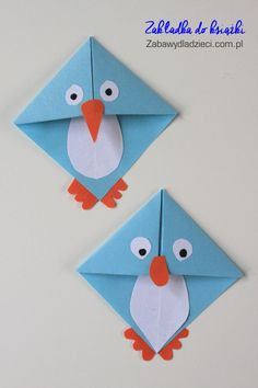 Check out the link for more information on Origami Designs Origami Penguin, Kids Origami, Paper Crafts Origami, Origami Paper, Easy Crafts For Kids, Art For Kids, Diy And Crafts, Pinterest Origami, Diy Marque Page