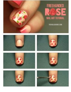 tutorial de unhas decoradas de rosa