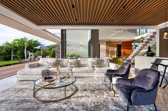 La Balise House in Mauritius Island by Bloc Architects - Luxury Houses Boho Living Room, Living Room Paint, Small Living Rooms, Mid Century Modern Living Room, Living Room Modern, Living Room Designs, Mauritius Island, Box Houses, Beautiful Living Rooms
