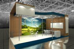 3d - Arte total: Estande construído em marcenaria.Projeto feito no ...