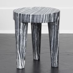 Carved out of a solid block of marble, this low stool or ottoman is a perfect example of a classic shape that is effortlessly stylish. Iron Furniture, Cardboard Furniture, Custom Furniture, Luxury Furniture, Furniture Design, Concrete Stool, Marble Interior, Interior Design, Decorative Spheres