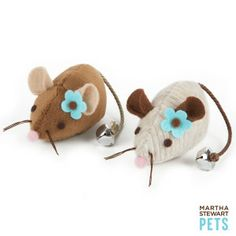 Martha Stewart Pets ™ 2- Pack Plush Mice - Mice - Toys - PetSmart