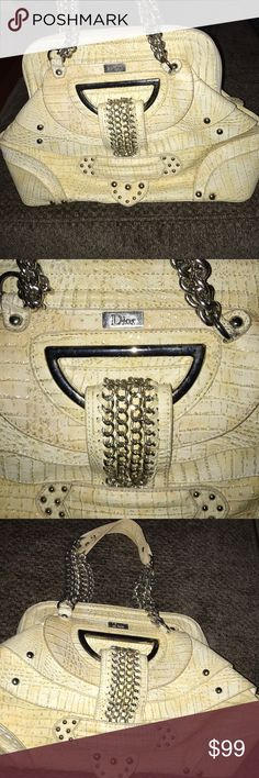 Cream Dior bag Gently used no major flaws  Clean inside  Price reflects authenticity Christian Dior Bags