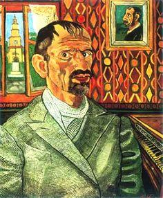 Ritratto con pianoforte - Antonio Ligabue