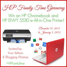HP Family Time Giveaway ~ Win an HP Chromebook & HP Envy Printer! US 1/5
