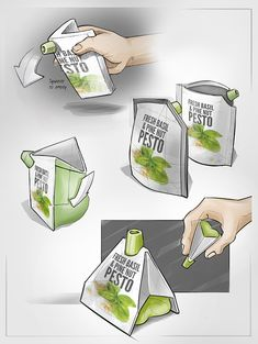 Spoilage-preventing Food Packaging by Fernand de Wolf Food Packaging Design, Packaging Design Inspiration, Branding Design, Coffee Packaging, Bottle Packaging, Label Design, Package Design, Designs To Draw, Cool Designs