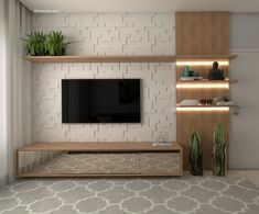 Good Housekeeping Mantra: 30 TV Wall Units To Organize And Stylize Your Home Home Room Design, Home Interior Design, House Design, Tv Unit Decor, Tv Decor, Home Living Room, Living Room Decor, Beige Living Rooms, Modern Tv Wall Units