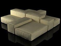 Living Divani Extrasoft sofa system 3d model | Piero Lissoni