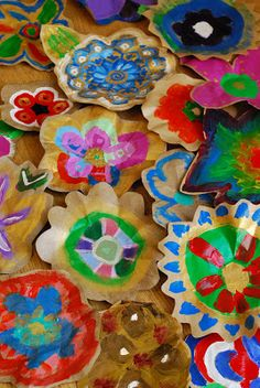 Painted Flowers using Packing Paper - Make It... a Wonderful Life ≈≈