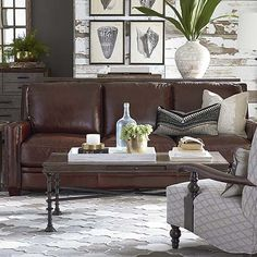 Pillows on the Couch // Coffee Table Accessories