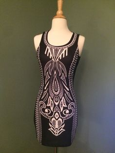 Black and white mini dress M