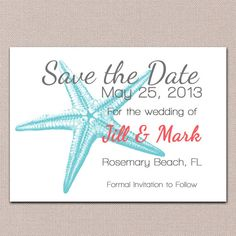 Save the Date Ideas for a Beach Themed Wedding | Wedding ...
