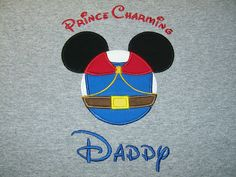 Personalized Mickey Mouse Snow White Prince Phillip Shirt by babyandtototoo on Etsy https://www.etsy.com/listing/231814411/personalized-mickey-mouse-snow-white