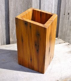 Chestnut Barn Wood Vase Handcrafted Reclaimed by WoodsorrelDixie, $26.00
