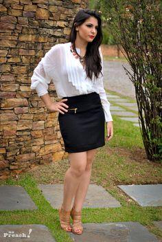 look para trabalhar:  camisa branca de seda