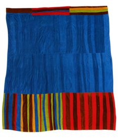 Gee's Bend Quilter, Annie Mae Young, born 1928. Strips, corduroy, ca. 1975, 95 x 105 ...