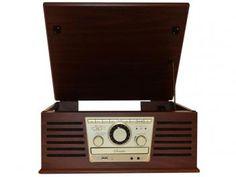Toca Discos CTX Sonata CD Player Vinil - Entrada USB Rádio AM/FM e MP3