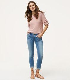 Primary Image of Skinny Crop Jeans in Bright Mid Indigo Wash