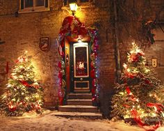 Quebec City lights | Holiday In Quebec City - Rue Du Petit Chaplain Lights Mixed Media by ...
