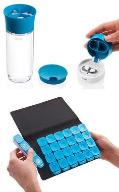 """[from designvagabond: """"Sabi is a nicely designed medication… Design Innovation, Pill Organizer, Industrial Design Sketch, Medical Design, 3d Prints, Design Studio, Packaging Design, Cool Designs, Gadgets"""