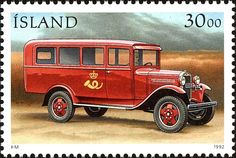 Sello: Stamp Day: Post cars - RE 231 (Islandia) (Post cars) Mi:IS 772,Sn:IS 756,Yt:IS 725,AFA:IS 762