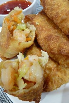 Shrimp Egg Rolls _ The sauce also makes a big difference, I love a good sweet & sour sauce. That's also hard to find. These egg rolls are so good & I can make them any time I want!