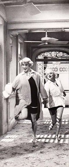 Marilyn Monroe and Jack Lemmon, Some Like It Hot, 1959.