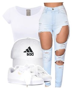 Sad by prettyeyezs on Polyvore featuring polyvore mode style Puma fashion clothing