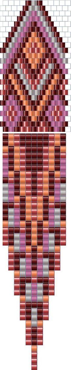 Мозаичное (кирпичное) плетение - схемы серег / peyote earrings patterns