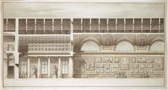 Giacomo Quarenghi Italian 1744–1817 'Design for the interior finishes of the  Hermitage Picture Gallery' (early 1800s)  pen and ink, watercolour  53.5 х 99.5 cm (sheet)  The State Hermitage Museum, St Petersburg  (Inv. no. ОР-9699)  Acquired from Giulio Quarenghi in 1818