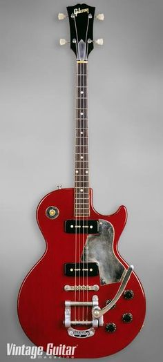 Tenor guitars were popular in the early 20th century, and most major manufacturers offered a few models. By mid century, their popularity waned and production was on a custom-order basis, like with this Gibson Les Paul tenor guitar.