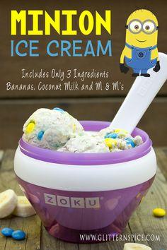 Minion Ice Cream | Zoku Ice Cream Recipe