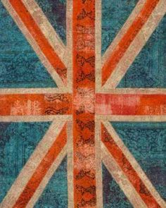 Vintage Stitch Area Rug - Union Jack